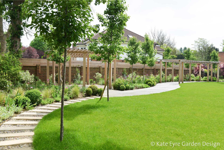Kate eyre garden design streatham south london for Large garden ideas uk