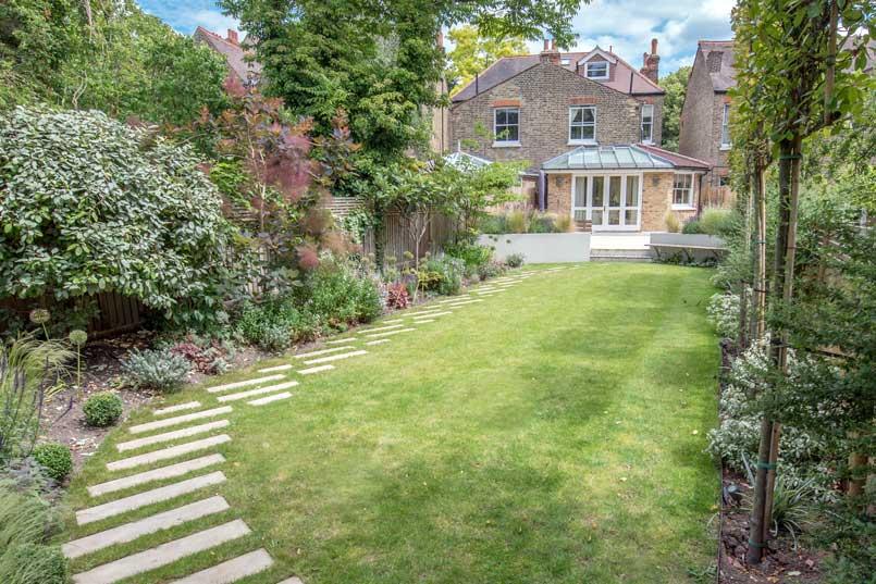Back garden design 3, Calton Avenue, London
