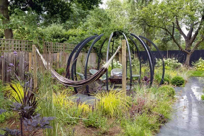 Back garden design, Court Lane, London
