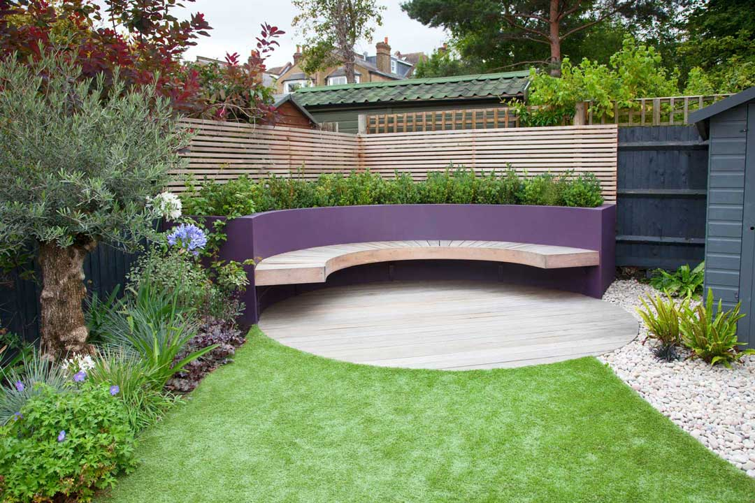 Bespoke garden bench, London, 2