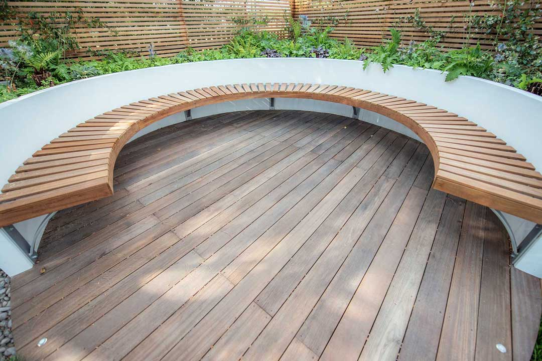 Bespoke garden bench, London, 8