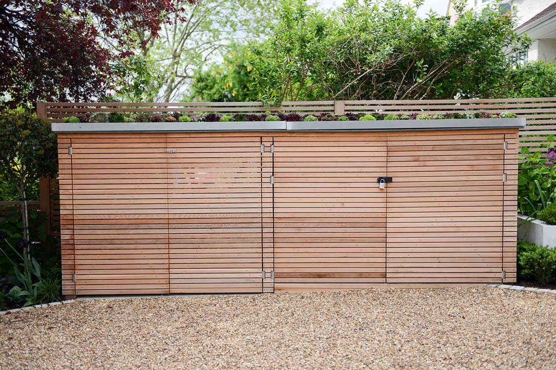 Fine Bespoke Bin Parks And Bike Sheds In London