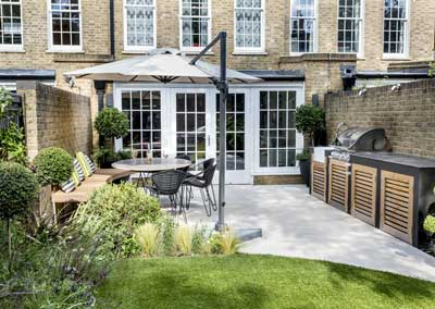 Back garden design, Camberwell Grove, London