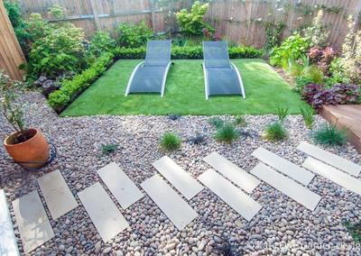 Small back garden design, Chatsworth Way, London, 4