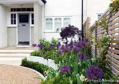 Front garden design, Court Lane, London, 1