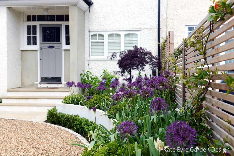 Front garden design, Court Lane, London, 1
