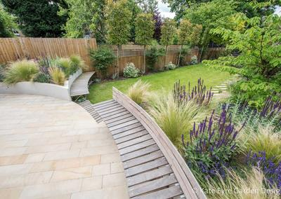 Large back garden design, Calton Avenue, Dulwich, London, 5