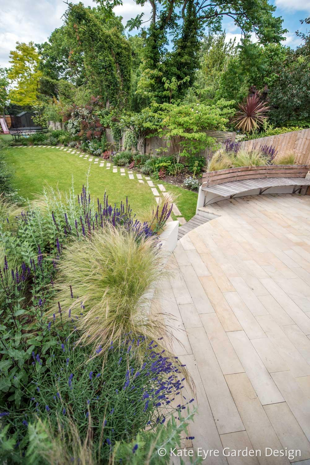 Large back garden design, Calton Avenue, Dulwich, London, 6
