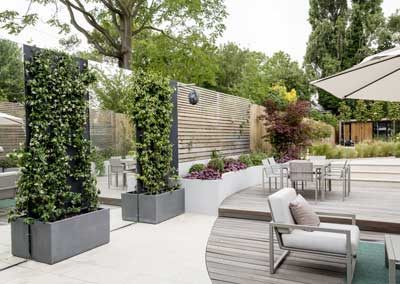 Back garden design, Friern Rd, London