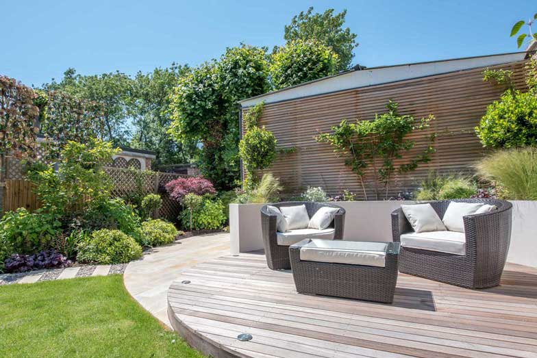 Garden deck in London by Kate Eyre