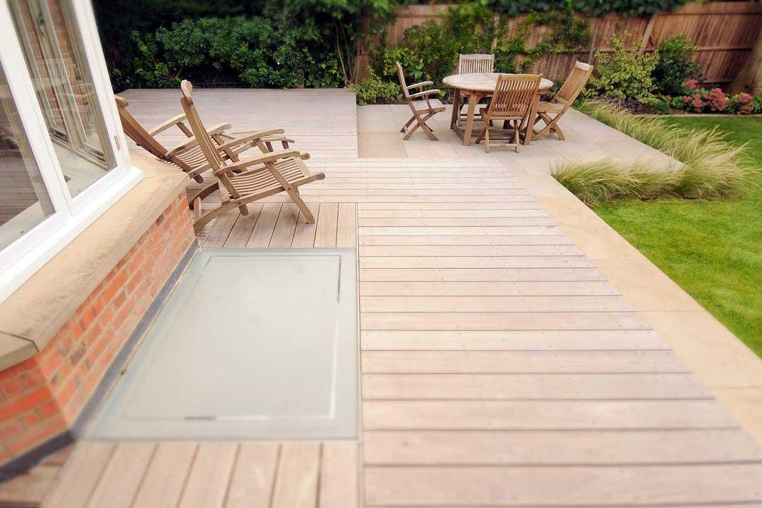 Garden decking, London, 1