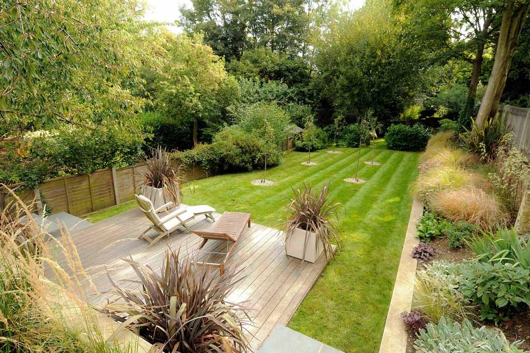 Garden decking, London, 2