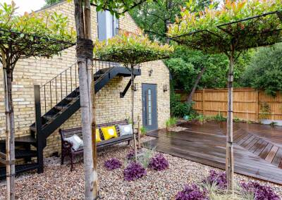 Back garden design, Alleyn Rd, 9