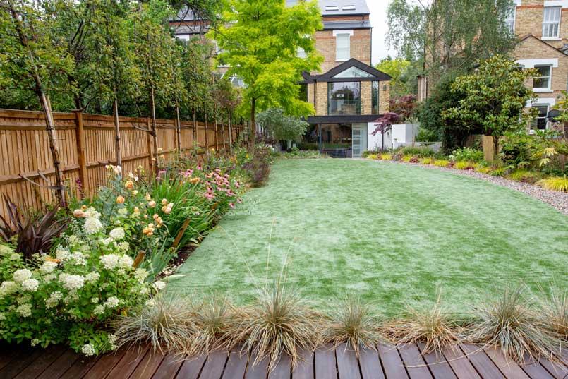 Back garden design, Alleyn Road, London