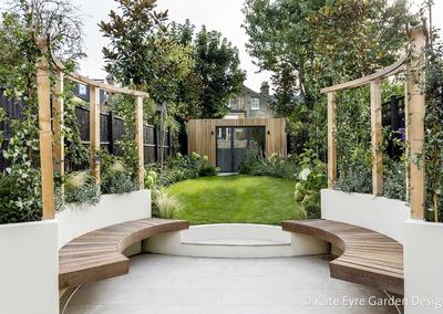 Back garden, Crescent Lane, Clapham, 1