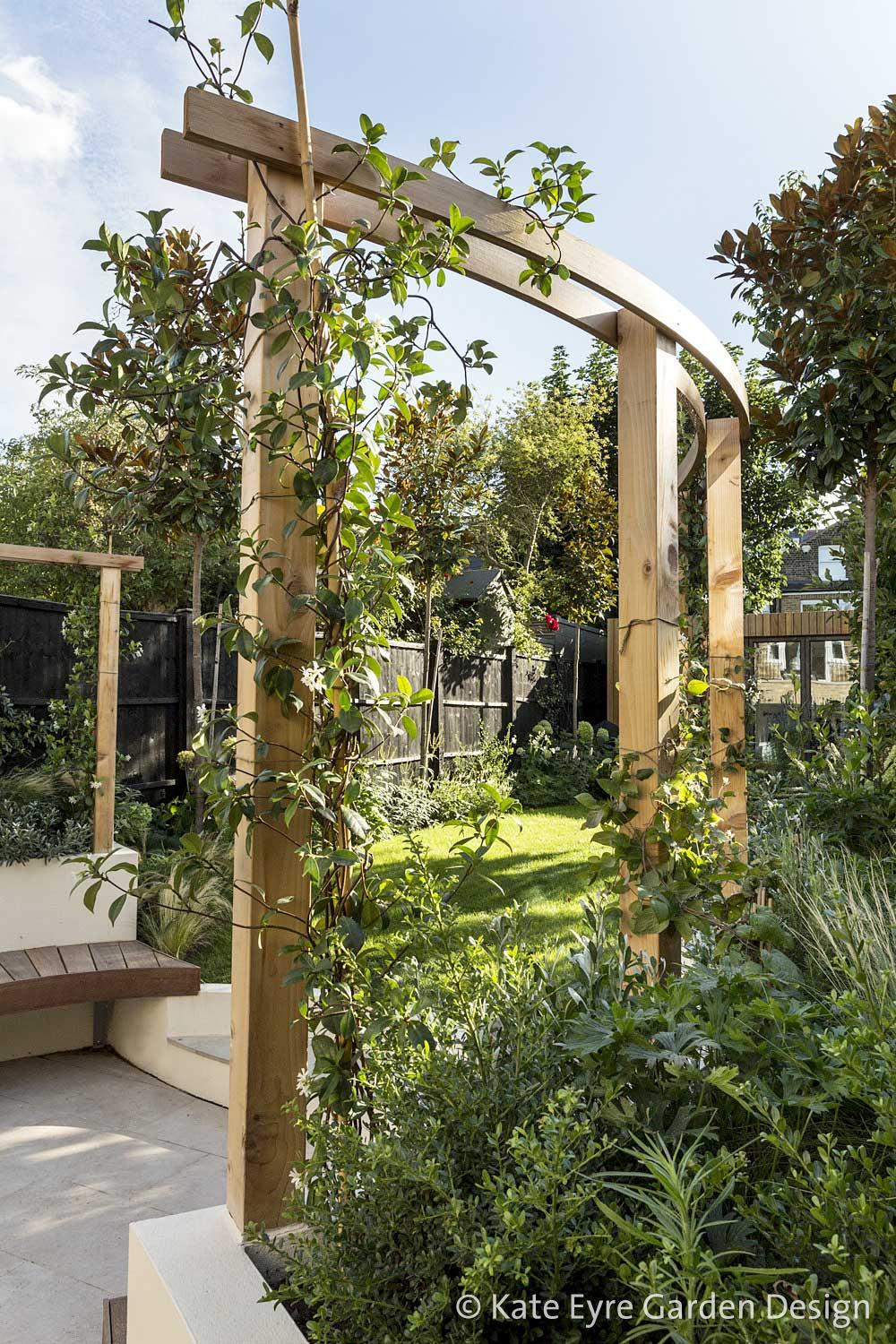 Back garden, Crescent Lane, Clapham, 3