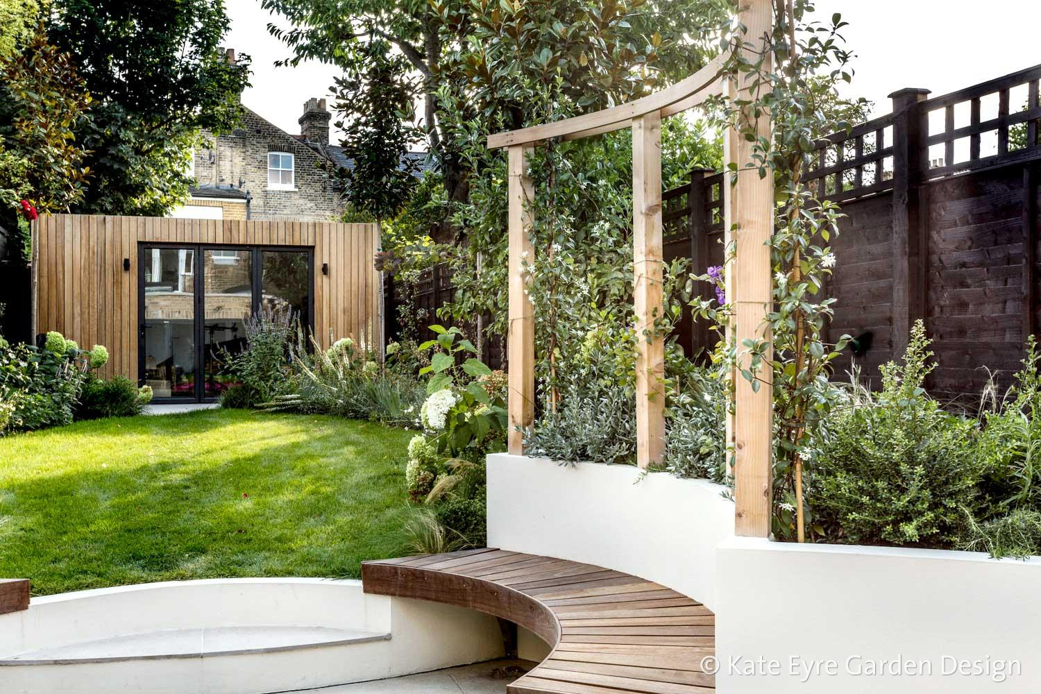 Back garden, Crescent Lane, Clapham, 5