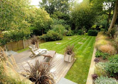 Large back garden design in Crystal Palace, South London, 5