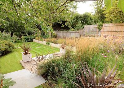 Large back garden design in Crystal Palace, South London, 8