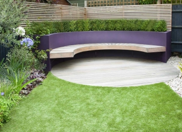 Medium back garden design in Druce Road, Dulwich, 3