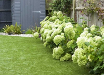 Medium back garden design in Druce Road, Dulwich, 4