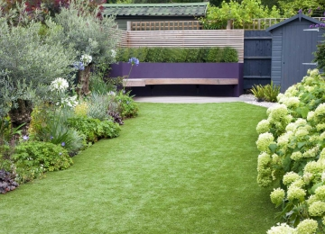 Medium back garden design in Druce Road, Dulwich, 6