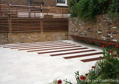 Small garden design in Argyll Rd, Kensington, 1