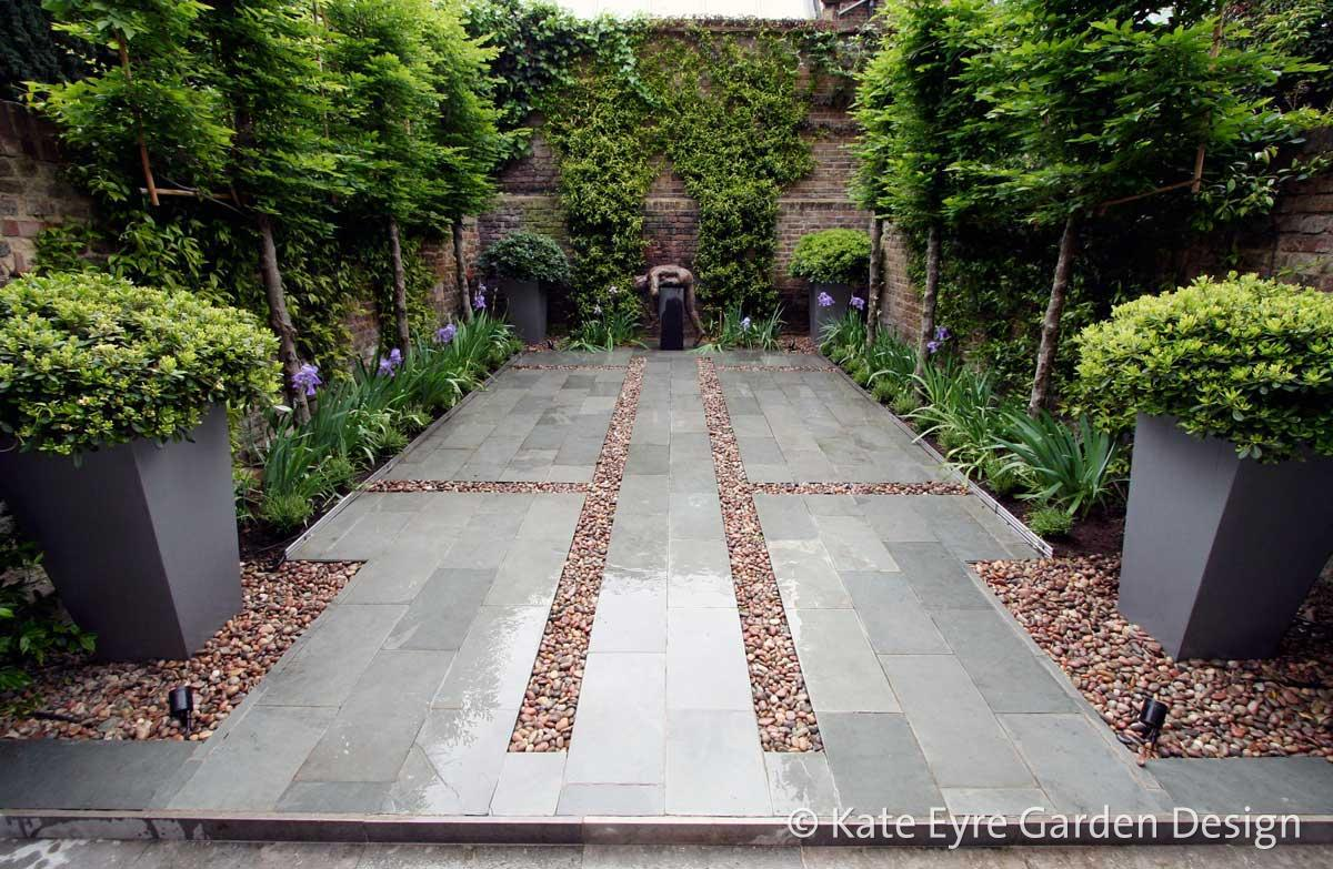 Small back garden design, Kensington, 1