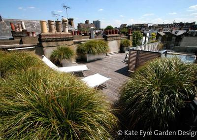 Roof garden design in Kensington, 1