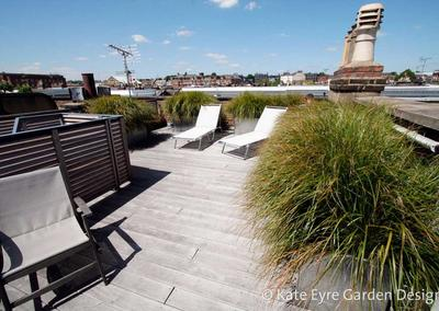Roof garden design in Kensington, 2