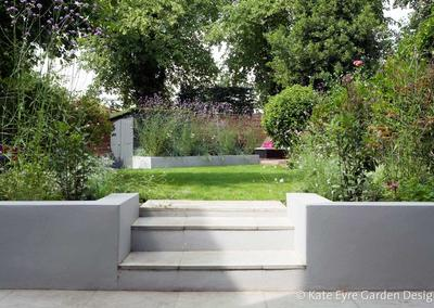 Medium back garden design in Drewstead Road, Streatham, 8
