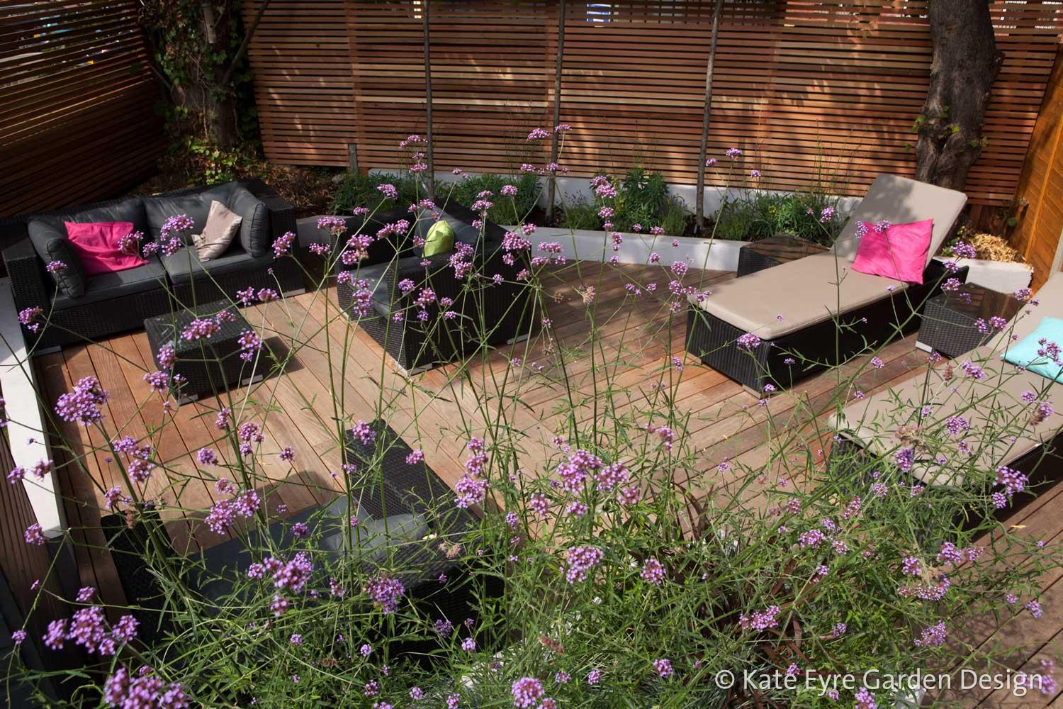 Medium back garden design in Drewstead Road, Streatham, 1