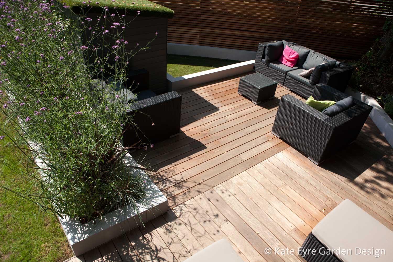 Medium back garden design in Drewstead Road, Streatham, 2