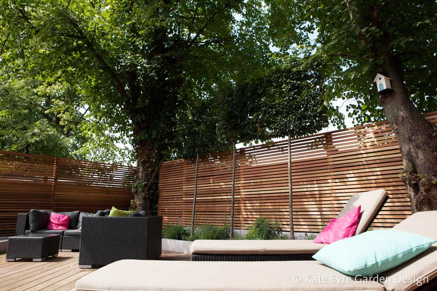 Medium back garden design in Drewstead Road, Streatham, 3