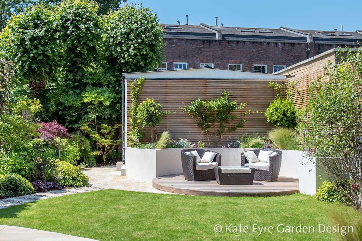 Medium-sized back garden design in Wandsworth, 1
