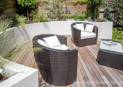 Medium-sized back garden design in Wandsworth, 10