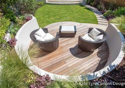 Medium-sized back garden design in Wandsworth, 6