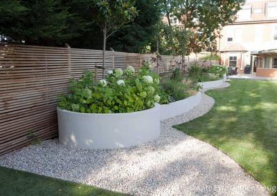Medium back garden design in Alleyn Park, Dulwich, 6