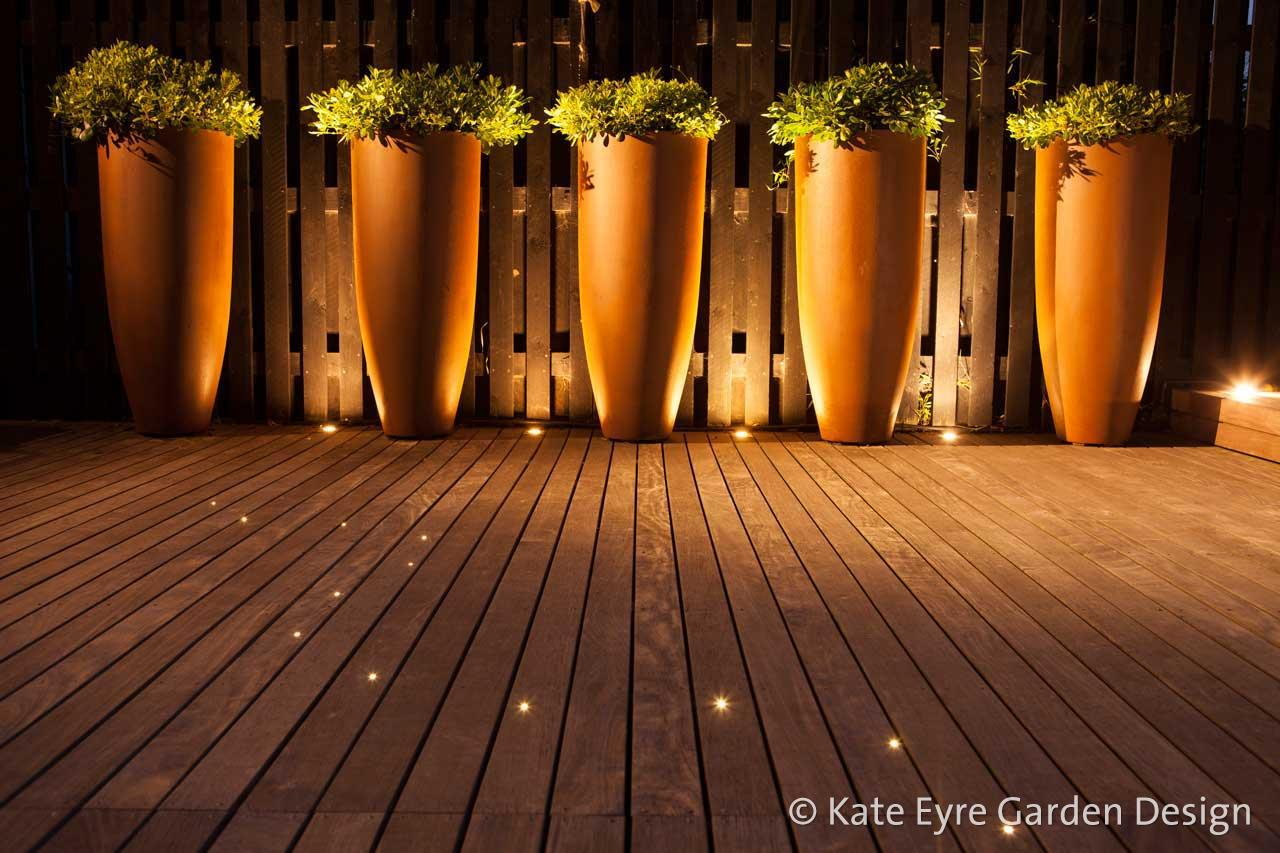 Tall underlit planters, Huf House Garden Design, Dulwich, 1