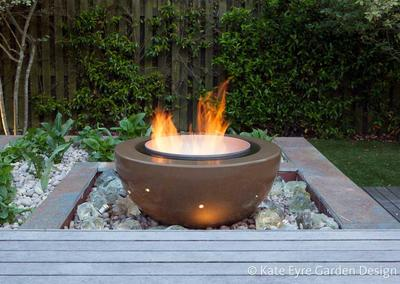 Fire feature, Huf House Garden Design, Dulwich, 4
