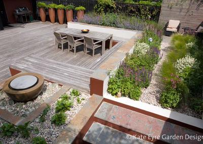 Deck and hard landscaping, Huf House Garden Design, Dulwich, 6