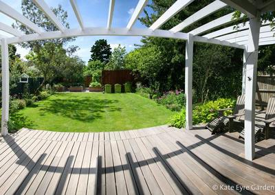Back garden design in Dulwich Village, 2