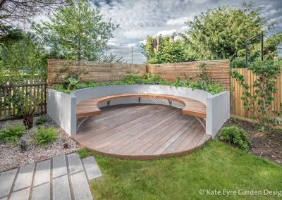 Large back garden design in Turney Road, Dulwich, 4