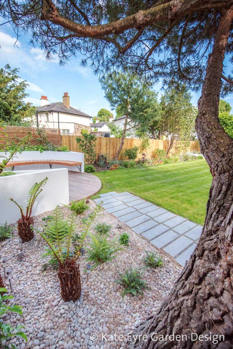 Large back garden design in Turney Road, Dulwich, 5
