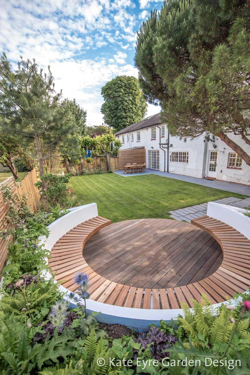 Large back garden design in Turney Road, Dulwich, 6