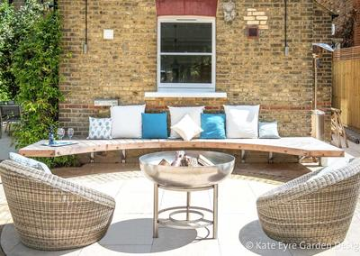 Back garden design in Alleyn Road, Dulwich, 1