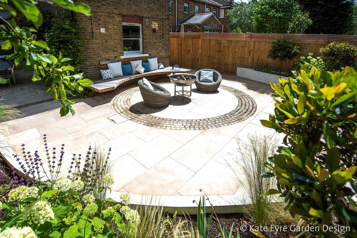 Back garden design in Alleyn Road, Dulwich, 2