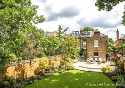 Back garden design in Alleyn Road, Dulwich, 4