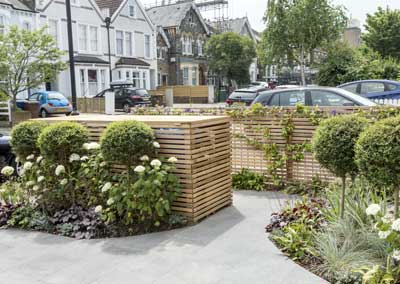 Front garden design, Friern Road, London