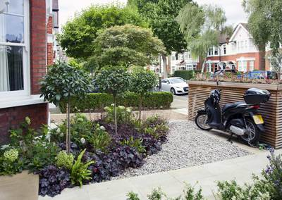 Front garden design in Turney Road, London, 3